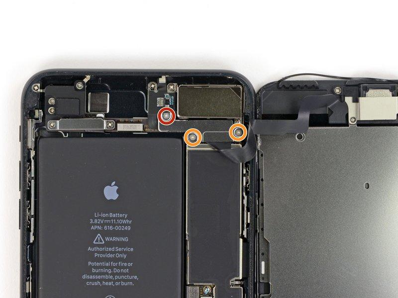 Mở ốc khung bảo vệ cáp camera sau, cụm cảm biến trên màn hình