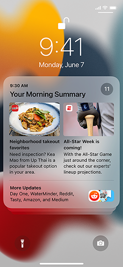 iOS 15 cũng thiết kế lại thông báo để dễ đọc hơn