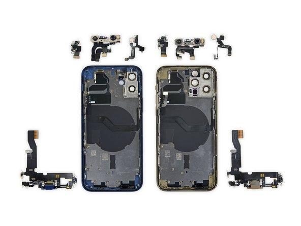 <span id='camera-truoc-den-flash-chan-sac'></span>Camera trước, đèn flash, chân sạc iPhone 12 và iPhone 12 Pro
